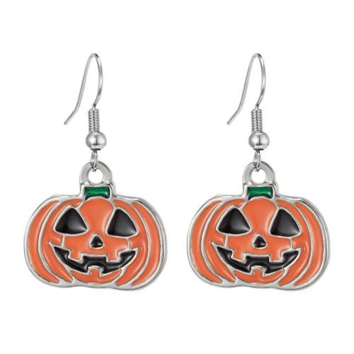 2020 Halloween Diy Resin Earrings Retro Personality Witch Pumpkin Mask Skull Ghost Cat Halloween Accessories Earrings Gift